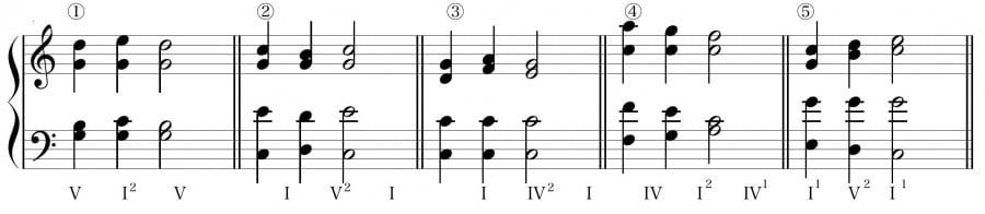 刺繍和音と経過和音
