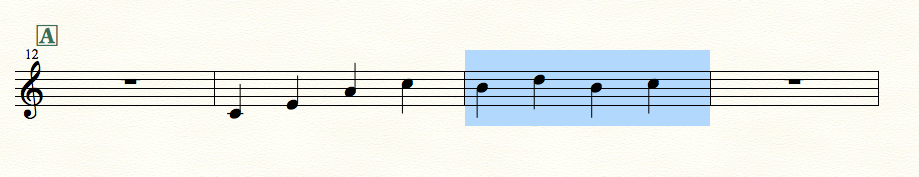 finaleで小節を挿入する例